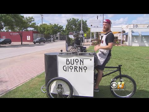 Fort Worth Man Opens Mobile Coffee Shop On Tricycle