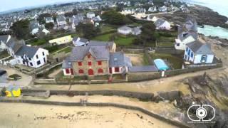 Batz sur Mer en Hiver vu du ciel par le drone