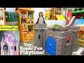 Princess Castle Playhouse and Medieval Castle Playhouse for Kids. Bouncers and Slides! Playground