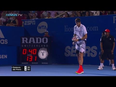 HUGE Del Potro forehand past Djokovic in Acapulco