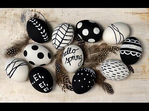 Tafellack Farben ostereier im schwarz weiß trend mit tafel lack und keramik effekt