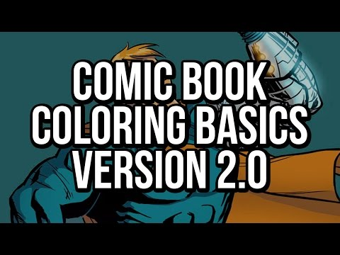 Photoshop Comic Book Coloring: The Basics v2.0 - great for beginners (how to color comic books)