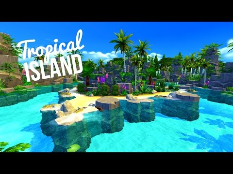 TROPICAL ISLAND - #TheIsland Challenge - Sims 4 | House Build