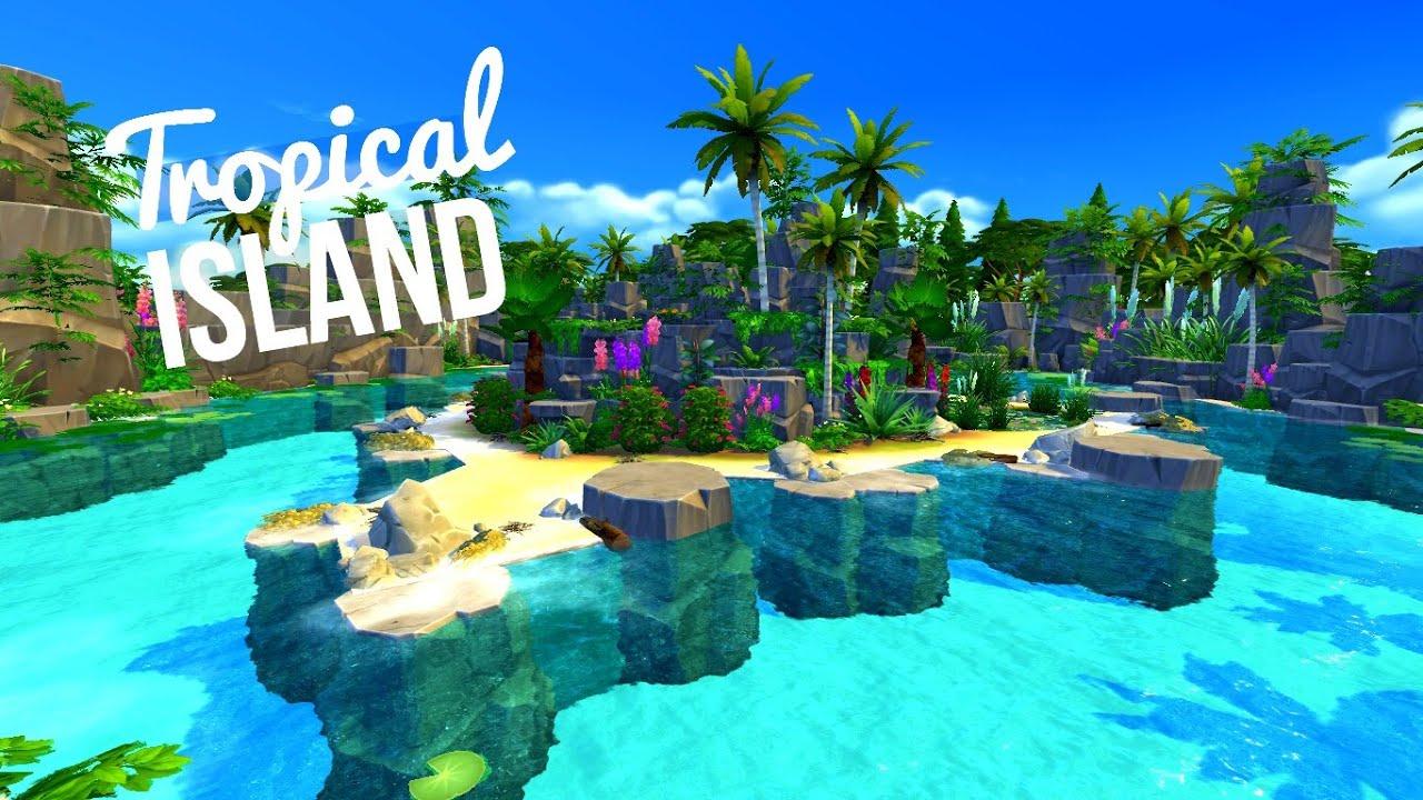 TROPICAL ISLAND TheIsland Challenge Sims 4