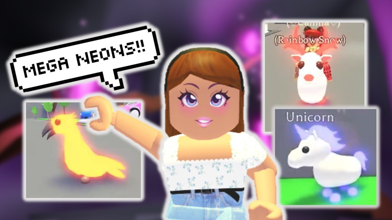 Every Legendary Mega Neon Pet In Adopt Me Roblox Youtube
