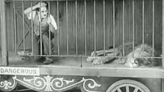 Charlie Chaplin - The Lion's Cage (funny scene)