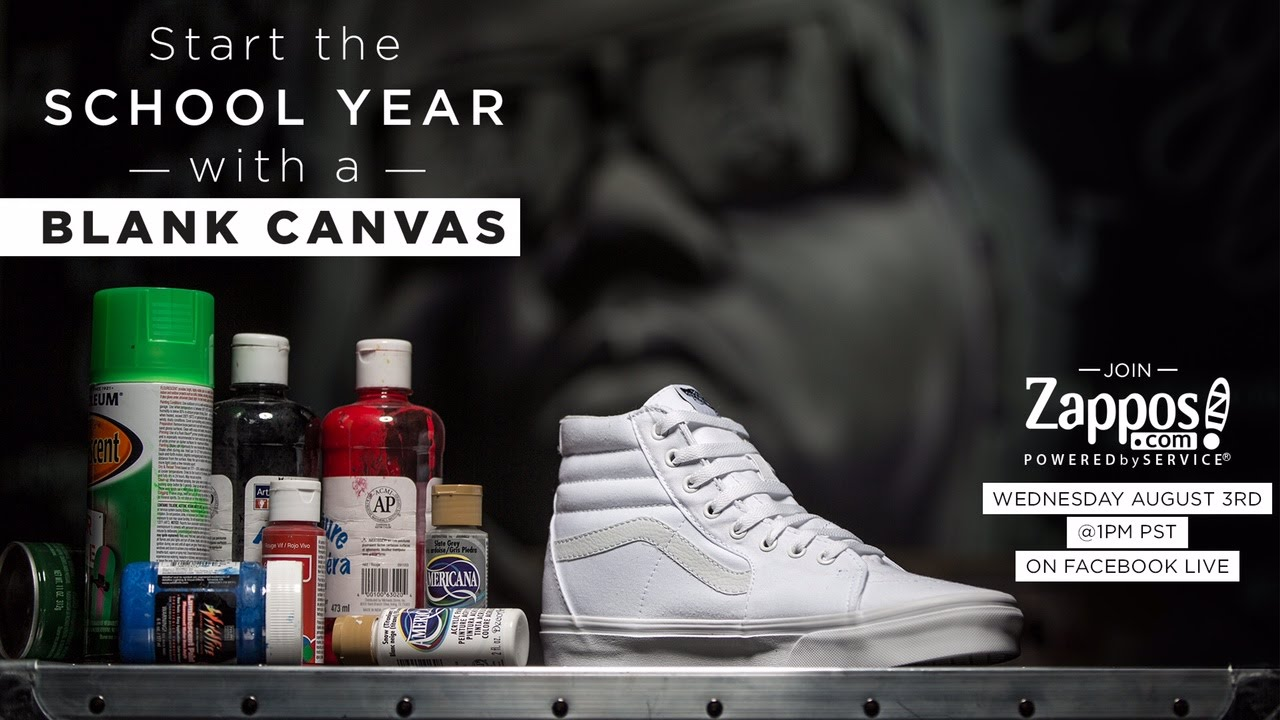 Live Painting from A to Zappos: Vans Shoes