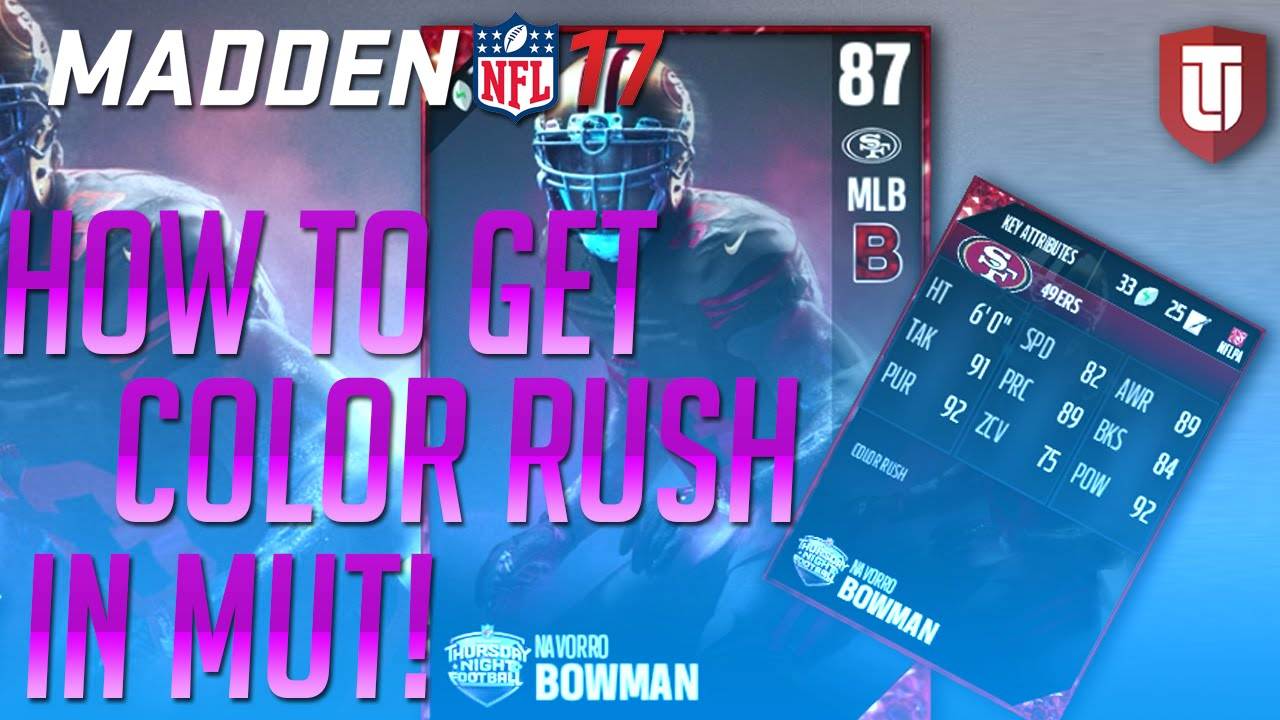 d3dc149d85a Madden 17 - How To Get Color Rush Uniforms In MUT! - YouTube
