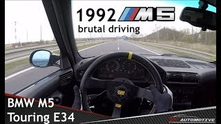 BMW M5 (E34) Touring POV Test Drive + Acceleration 0 - 240 km/h