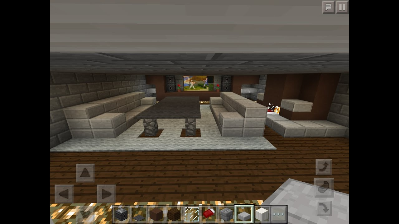How To Build A Modern Living Room In Minecraft PE