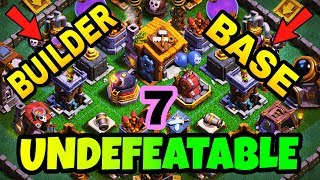 UNDEFEATABLE BUILDER BASE 7 LAYOUT WITH REPLAY | BEST BUILDER HALL 7 BASE IN COC | CLASH OF CLANS