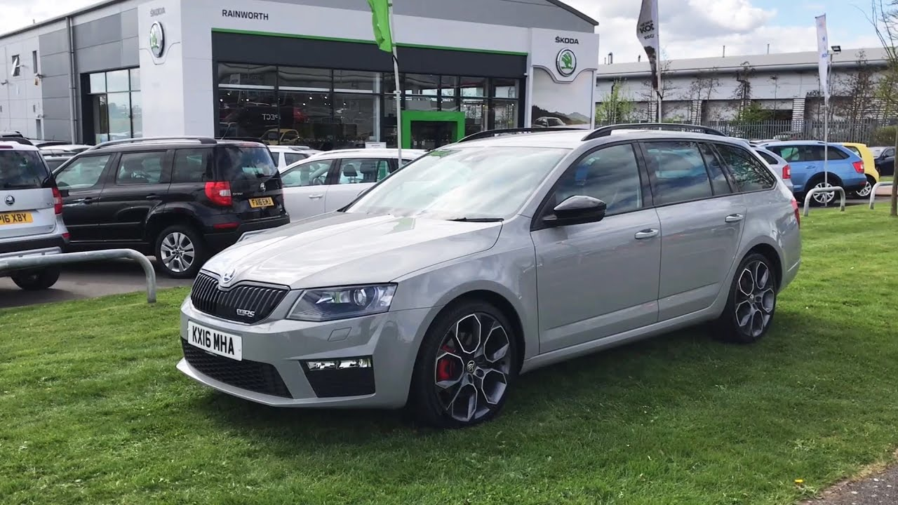ŠKODA Octavia Estate vRS in Meteor Grey 2016 (16 Reg) (HD ...