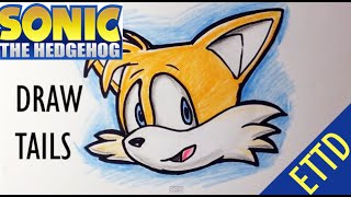 How to Draw Tails from Sonic the Hedgehog - Easy Things To Draw