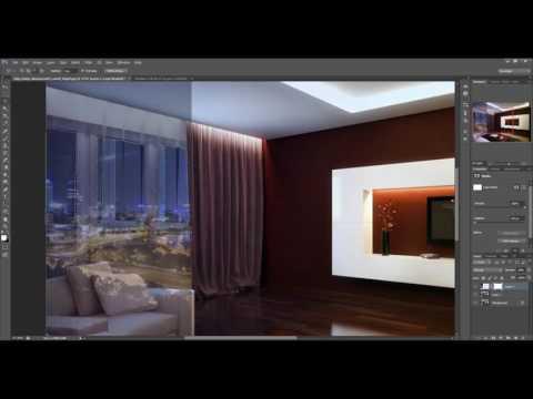 Дизайн и визуализация  5   Обработка изображений  Фон за окном