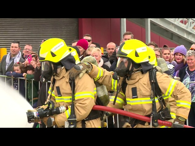 Recruit Course 121 Firefighting Displays