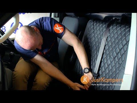 DKMOTO DK640P3 Tailored Van Seat Covers for Volkswagen Transporter T6