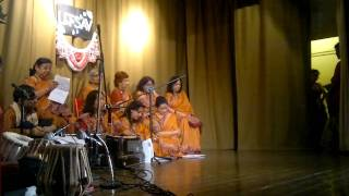Indian Bengali dancing and singing baoul style with harmonium and tabla