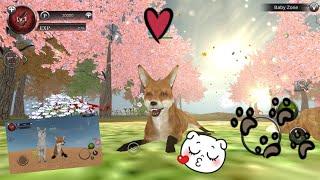 Играю в симулятор животных онлайн вместе с барси.( лисята и енот!)
