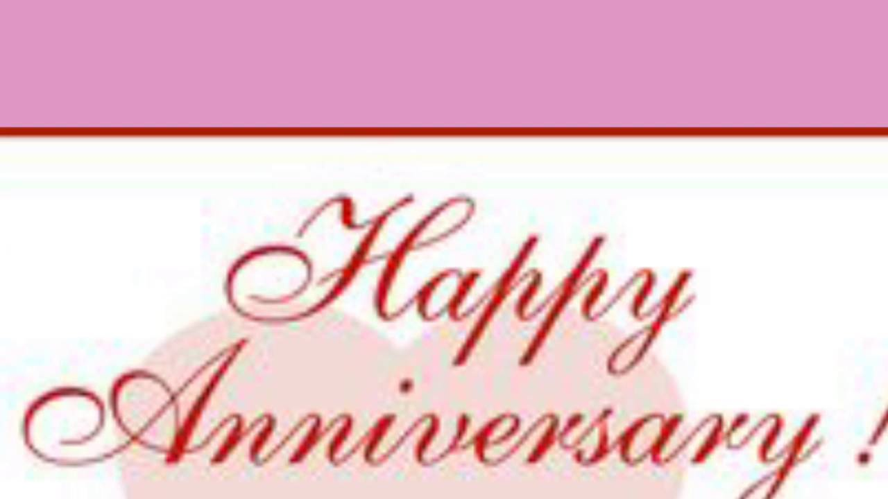 Happy Wedding Anniversary(1) - YouTube