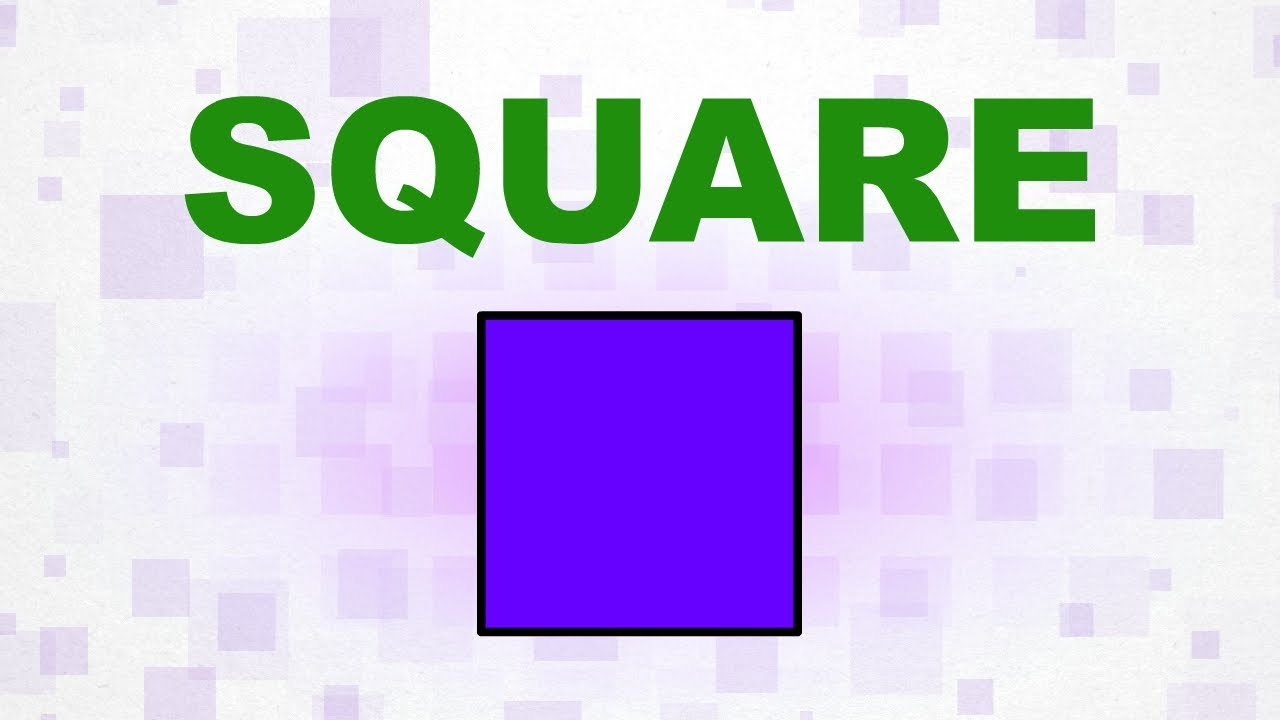 Square - Shapes - Pre School - Learn Spelling Videos For ...