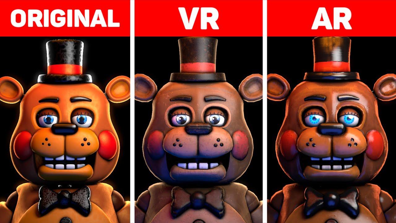 Five Nights at Freddy's Toys Original, VR & AR Animatronics Comparison