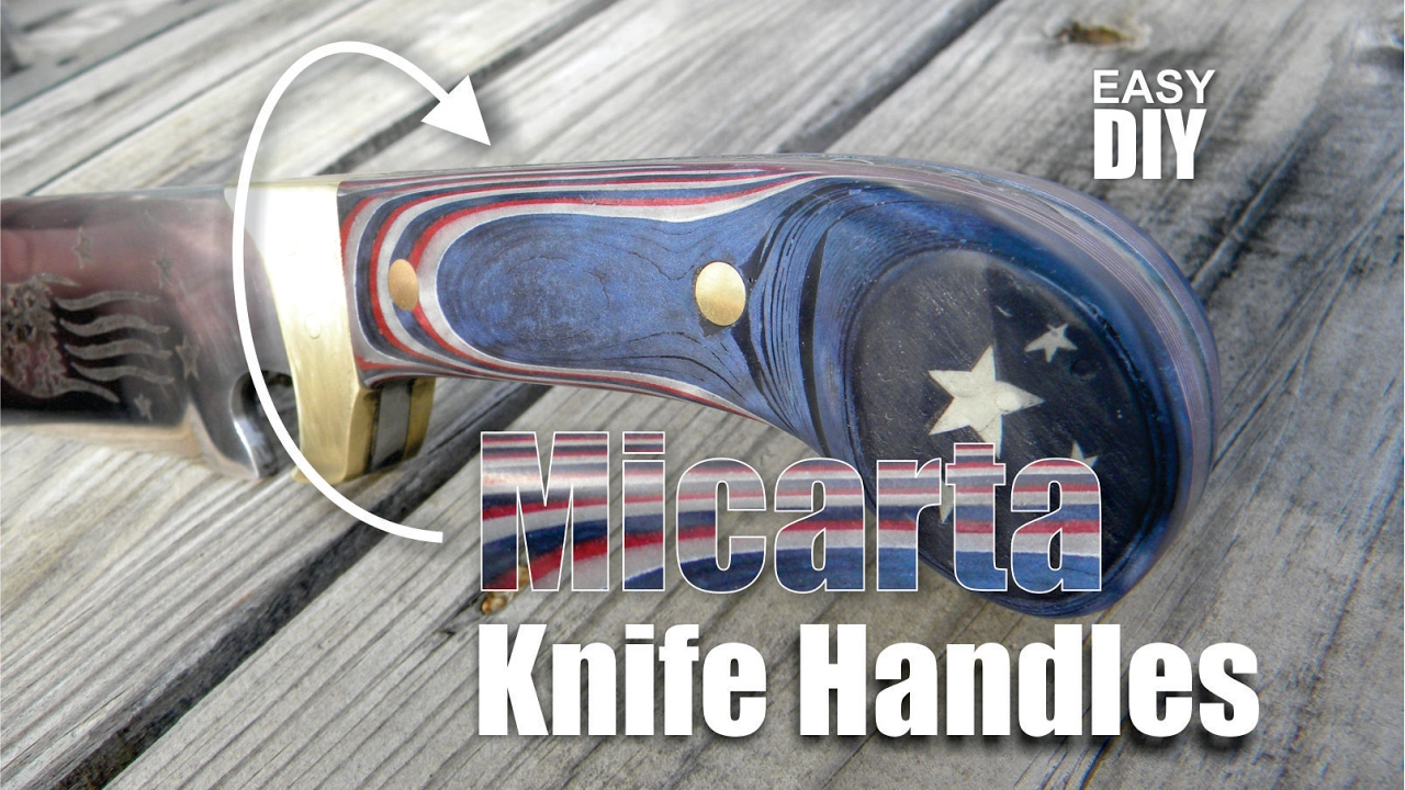 How to easily make Micarta knife handles with decorative inlay