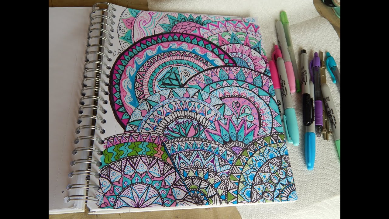Colorful Full Page Mandala - YouTube