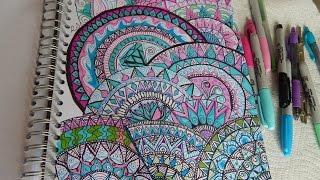 drawings colorful mandala