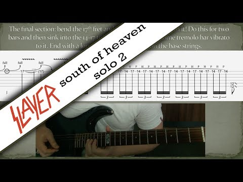 Slayer South of Heaven second solo tab lesson