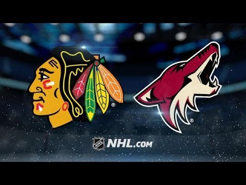 CHICAGO BLACKHAWKS VS ARIZONA COYOTES  10/21/17