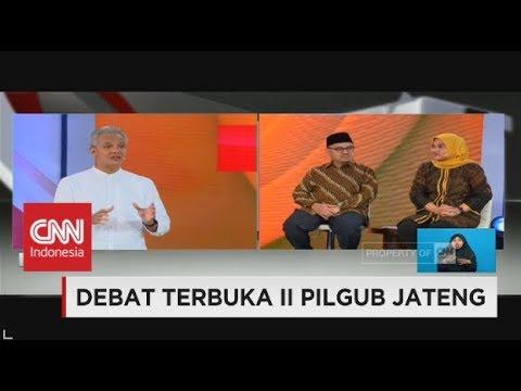 Ganjar Bahagia Diajak Bicara Pemerintahan Bersih - Debat II Pilgub Jateng 4/6