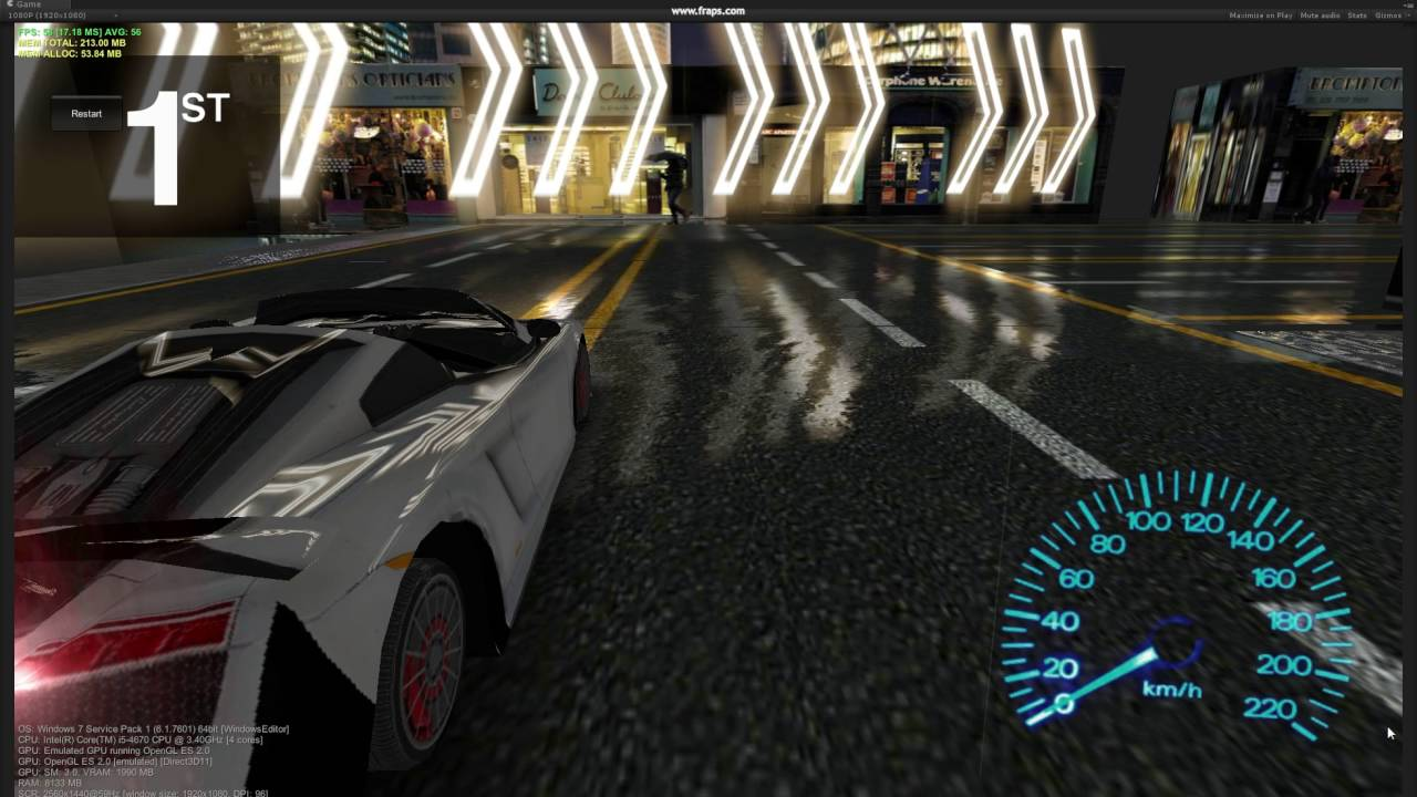Unity Mobile Optimized racing game shader (GLES2)