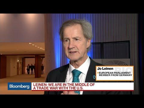 Trump Tariffs on EU Could Lead to Trade War, Leinen Says