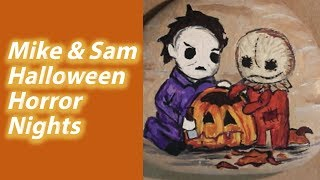 Time Lapse Painting: Halloween Rock - Mike and Sam | Halloween Horror Nights Universal Studios