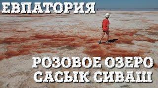 Розовое озеро в Крыму. Сасык Сиваш