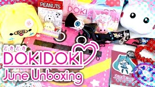 Doki Doki Crate June 2016 Unboxing - Kawaii Montly Subscription Box/Kawaii Box - HOPPE Chan & MORE! thumbnail
