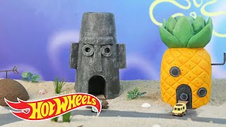 The SpongeBob Squarepants Bikini Bottom Bandit Strikes Again | Hot Wheels