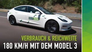 180 km/h und Regen: Wie weit fährt das Tesla Model 3? Teil 3/4