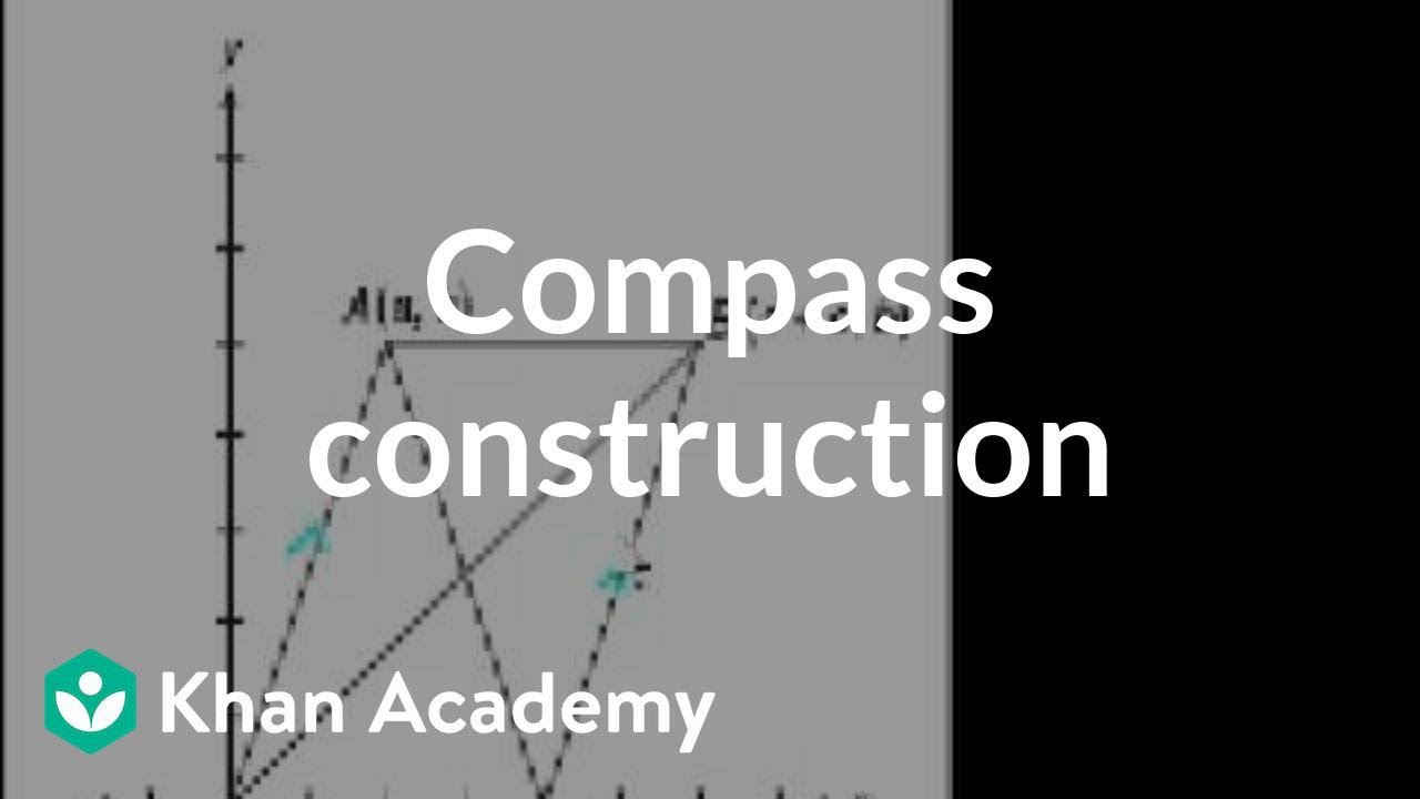 CA Geometry: Compass construction | Worked examples | Geometry | Khan  Academy