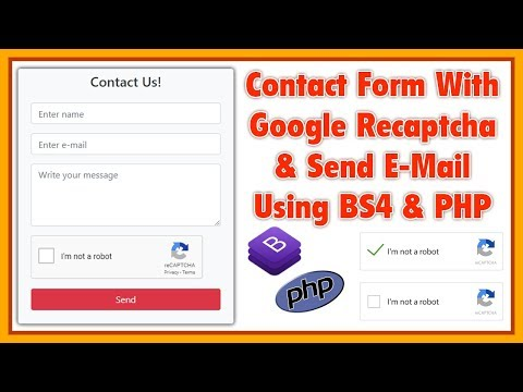 Google ReCaptcha With Contact Us Form Send E-Mail Using Bootstarp 4 And PHP