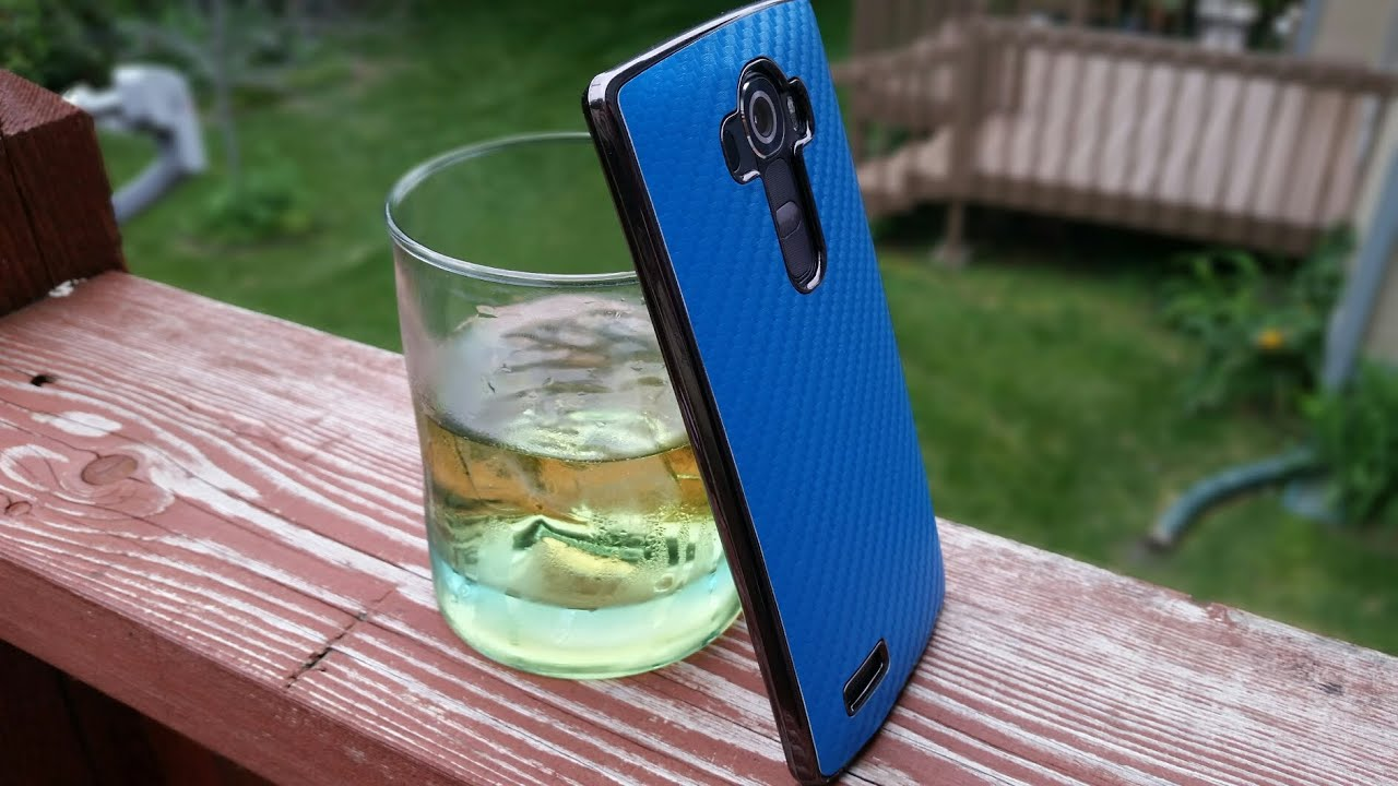 purchase cheap e58e6 3fa99 LG G4 - Carbon Fiber Metallic Case Unbox