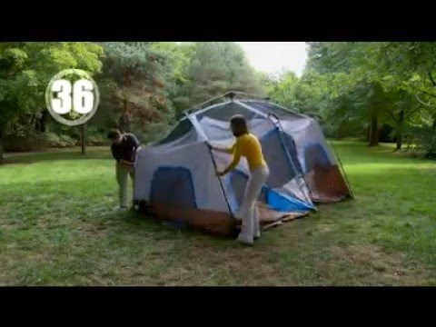 Ozark Trail 10 Person 2 Room Instant Cabin Tent & Ozark Trail 10 Person 2 Room Instant Cabin Tent - YouTube