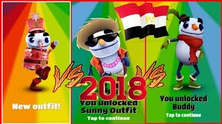 SUBWAY SURFERS CAIRO 2018 WORLD TOUR NEW - Subway surf Buddy with Sleigh Hover Board