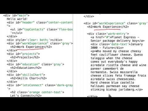 电子简历的 HTML
