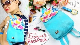 DIY BACKPACK TUTORIAL SO Bright & NICE & EASY