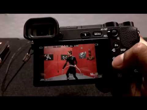 Sony A6500 awesome EVF, buffer and back LCD PhotoPlus Expo 2016