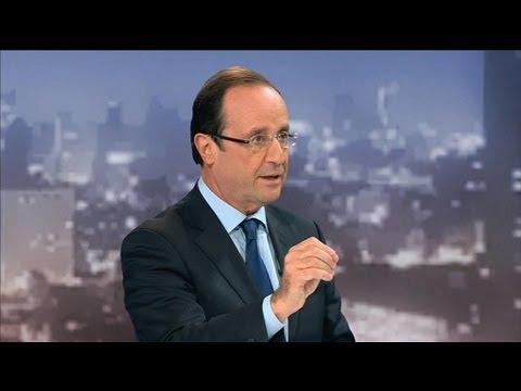 BFMTV 2012 : l'interview de François Hollande par Olivier Mazerolle