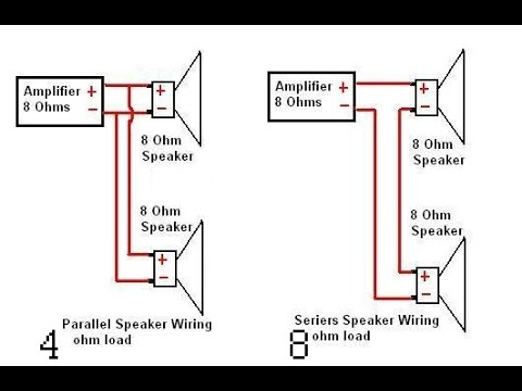 8 ohm speaker wiring diagrams hpm batten holder diagram converting amplifiers series a (or) b speakers to parallel (and) - youtube
