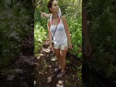 Beautiful Girl In African Forest