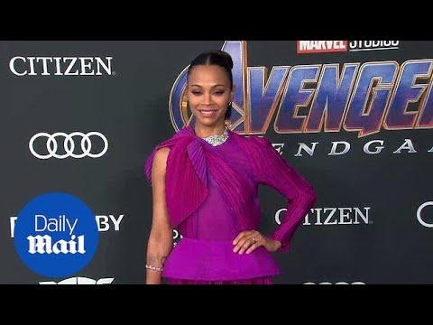 Zoe Saldana looks incredible at premiere of Avengers: Endgame